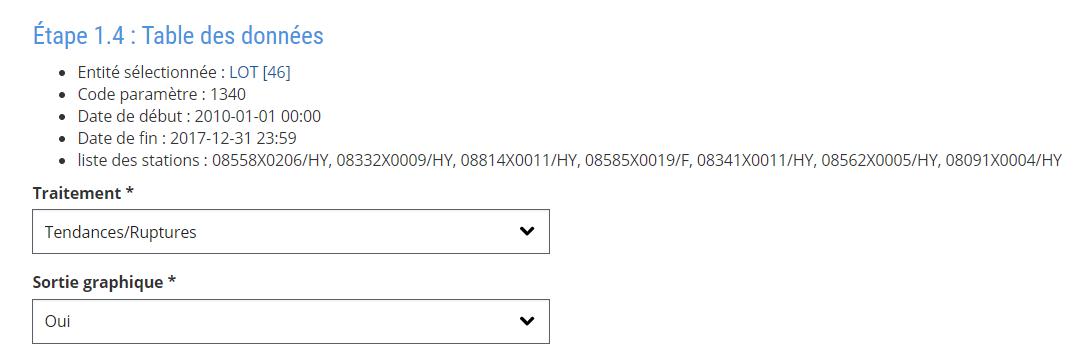 Asta-Env - Choix des calculs