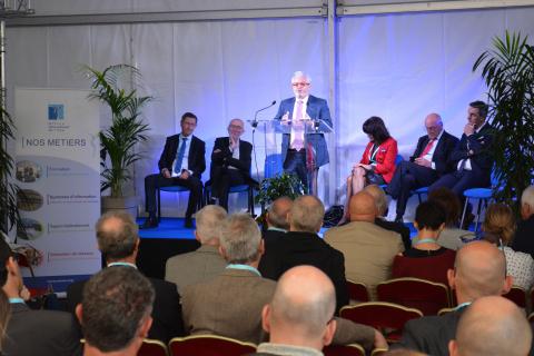 Inauguration des installations de l'OIEau - Pascal BERTEAUD, Président de l'OIEau, lors du discours inaugural